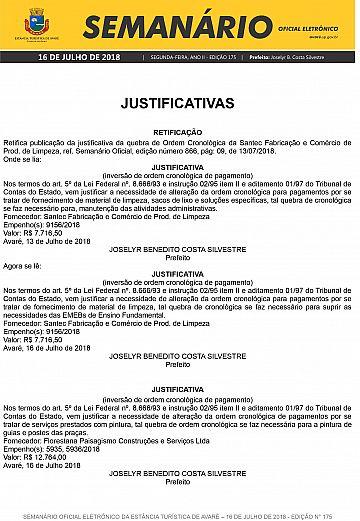 Semanário Oficial - Ed. 175