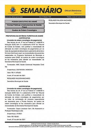 Semanário Oficial - Ed. 921
