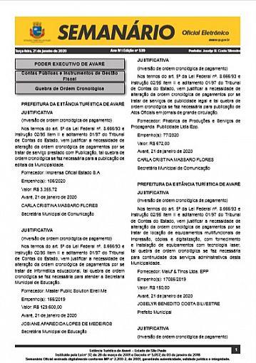 Semanário Oficial - Ed. 539