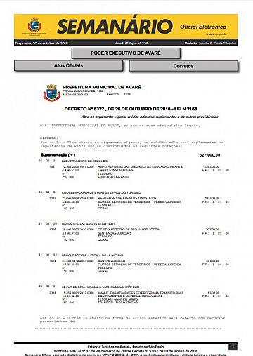 Semanário Oficial - Ed. 234