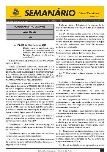 Semanário Oficial - Ed. 913