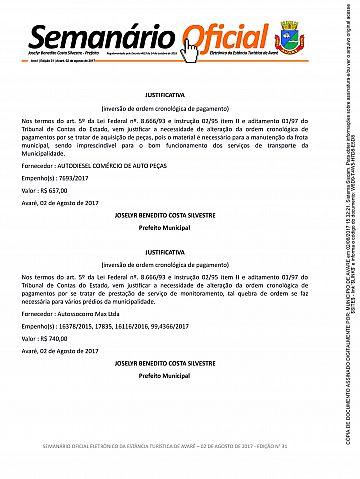 Semanário Oficial - Ed. 31