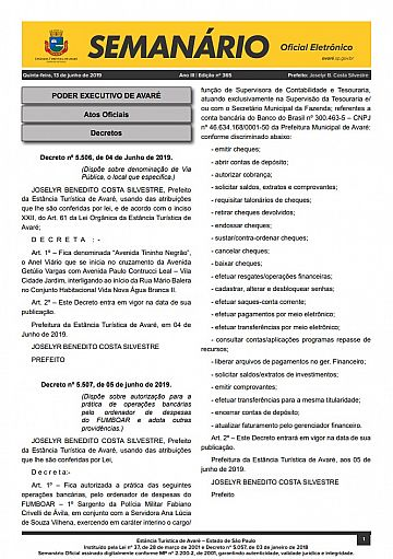 Semanário Oficial - Ed. 365
