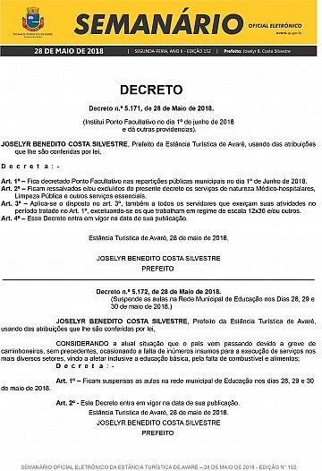Semanário Oficial - Ed. 152