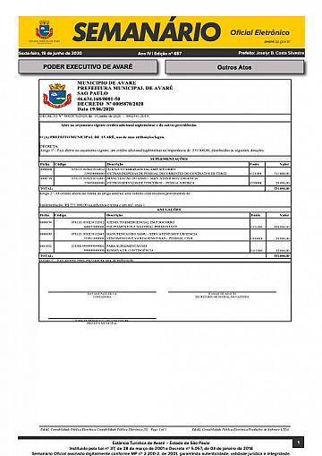 Semanário Oficial - Ed. 657