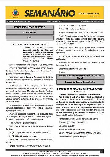 Semanário Oficial - Ed. 1065