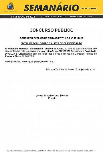 Semanário Oficial - Ed. 171