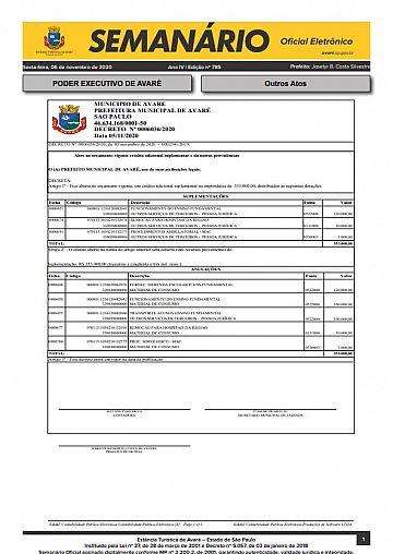 Semanário Oficial - Ed. 785