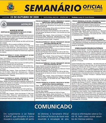 Semanário Oficial - Ed. 985