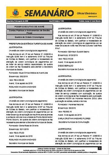 Semanário Oficial - Ed. 405