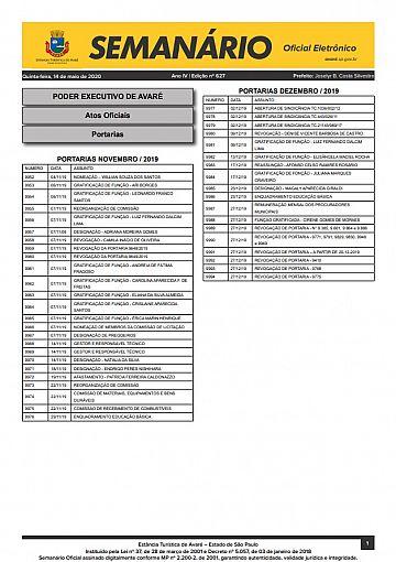 Semanário Oficial - Ed. 627