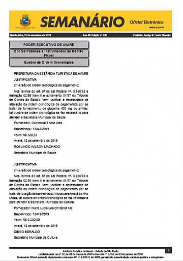 Semanário Oficial - Ed. 433