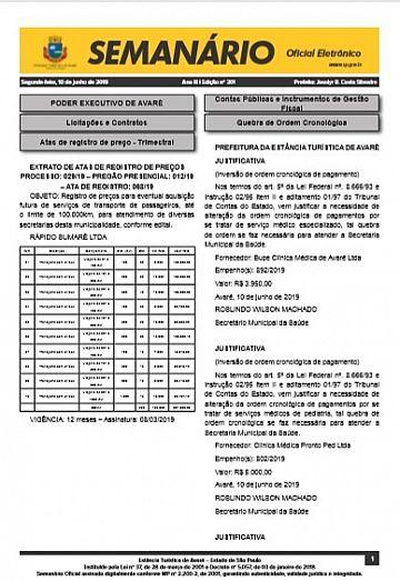 Semanário Oficial - Ed. 361