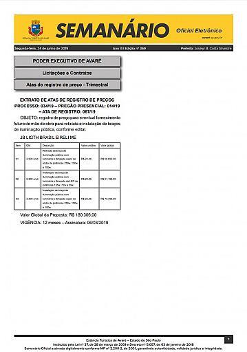 Semanário Oficial - Ed. 369