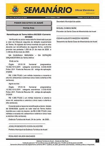 Semanário Oficial - Ed. 669