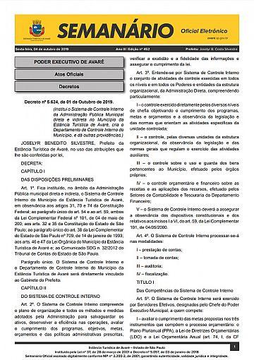 Semanário Oficial - Ed. 452