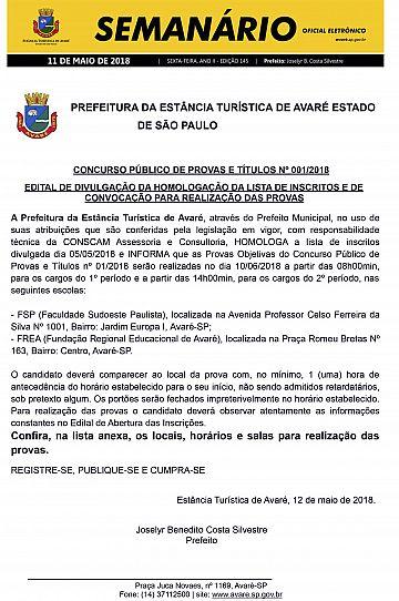 Semanário Oficial - Ed. 145