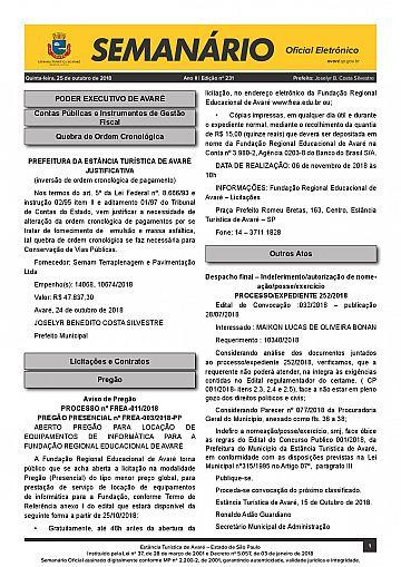 Semanário Oficial - Ed. 231