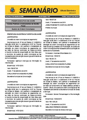 Semanário Oficial - Ed. 437