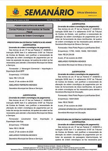 Semanário Oficial - Ed. 781