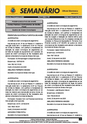 Semanário Oficial - Ed. 541