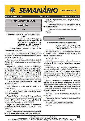 Semanário Oficial - Ed. 297