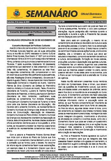 Semanário Oficial - Ed. 579