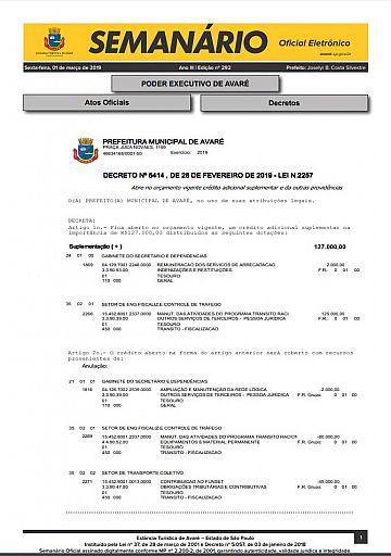 Semanário Oficial - Ed. 292
