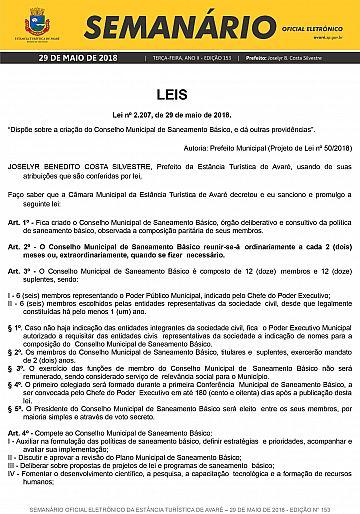 Semanário Oficial - Ed. 153