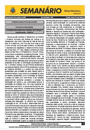Semanário Oficial - Ed. 460