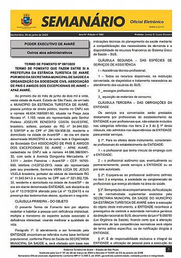 Semanário Oficial - Ed. 662