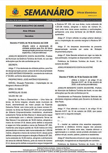 Semanário Oficial - Ed. 777
