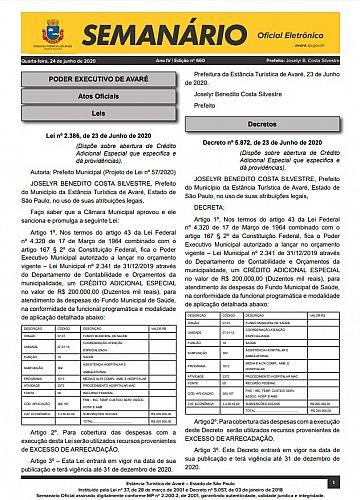 Semanário Oficial - Ed. 660