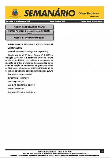 Semanário Oficial - Ed. 430
