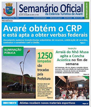Semanário Oficial - Ed. 729