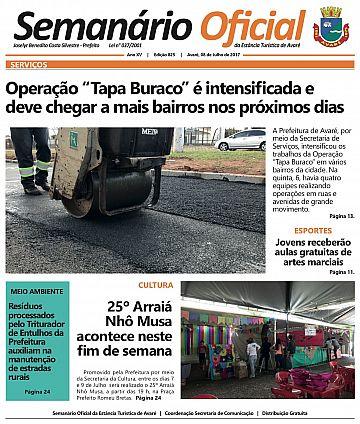 Semanário Oficial - Ed. 825