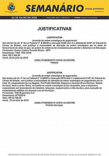 Semanário Oficial - Ed. 167