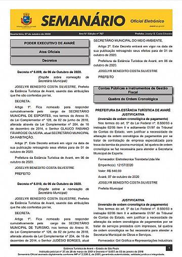 Semanário Oficial - Ed. 767