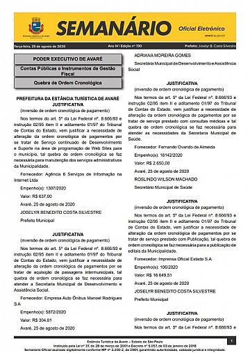 Semanário Oficial - Ed. 730