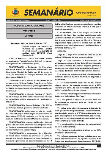 Semanário Oficial - Ed. 659