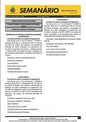 Semanário Oficial - Ed. 769