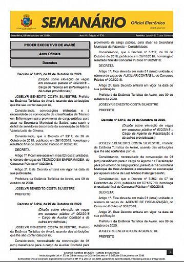 Semanário Oficial - Ed. 770