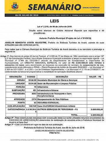 Semanário Oficial - Ed. 170